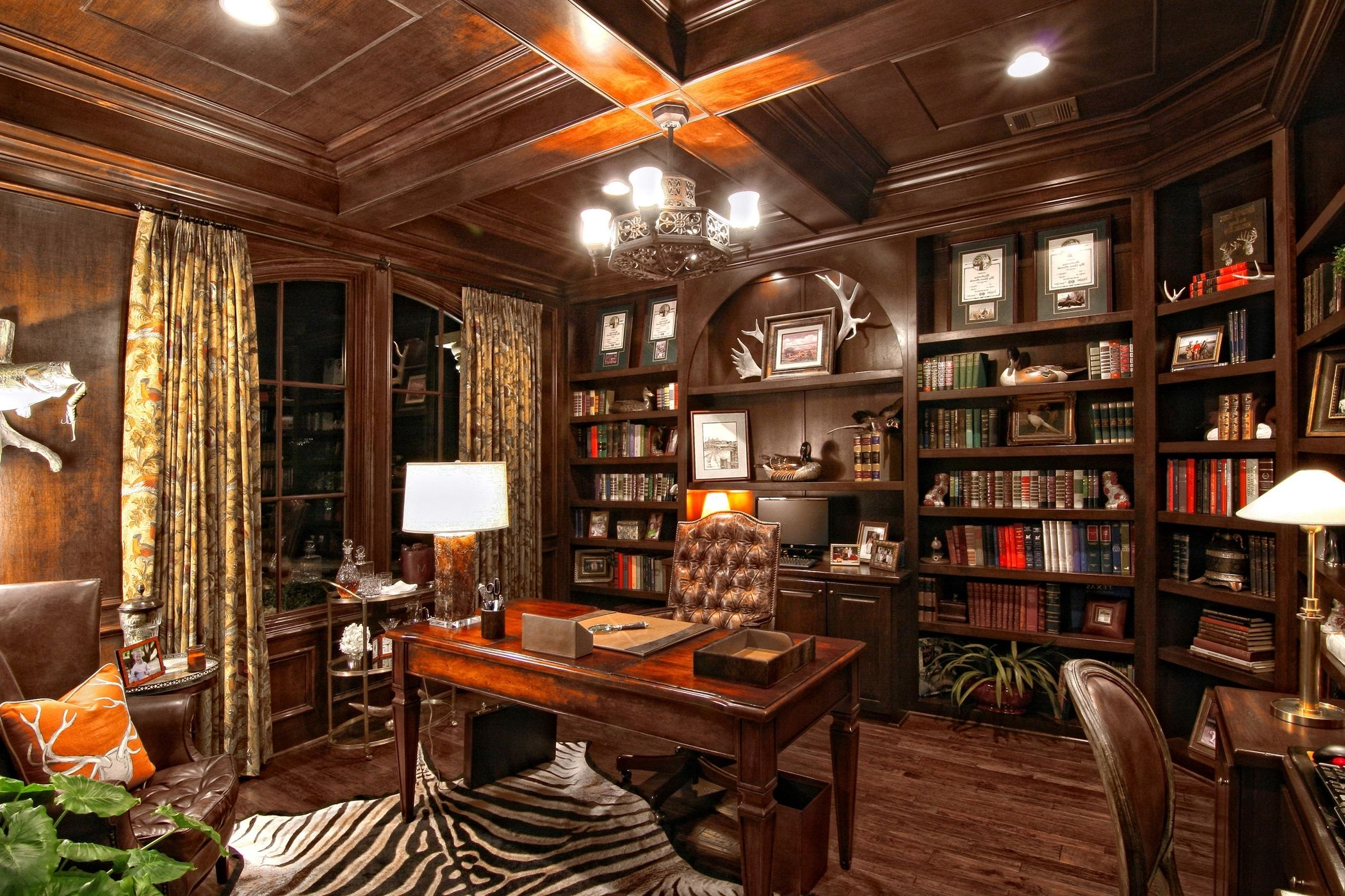 Best Home Office Decor Ideas For Gentlemen Home library