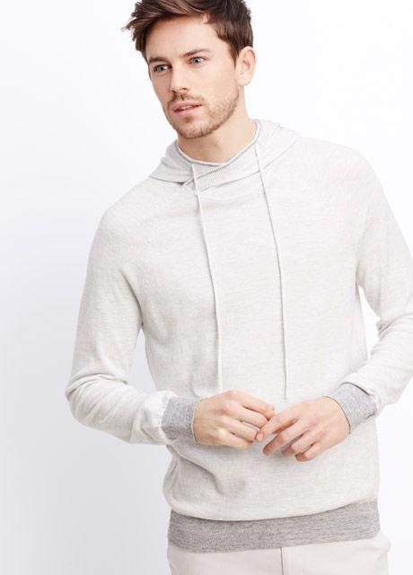 Vince Brand  Mens Long Sleeve Cotton Jaspé Jersey Henley T-Shirt Sweater Tee