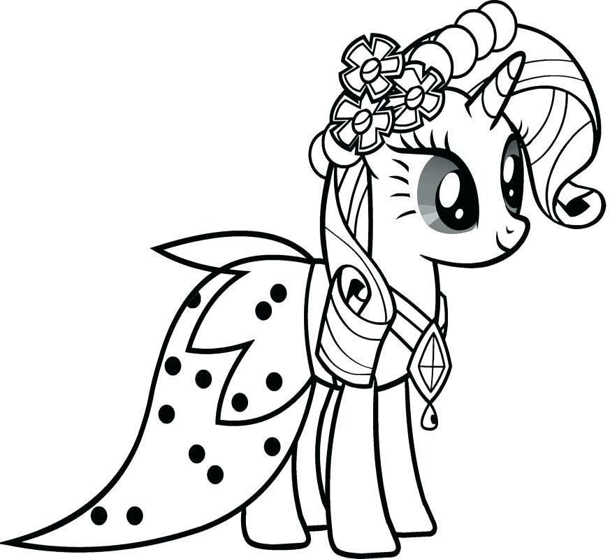 Dibujos De Unicornios Para Colorear Gratis My Little Pony Coloring My Little Pony Rarity Horse Coloring Pages