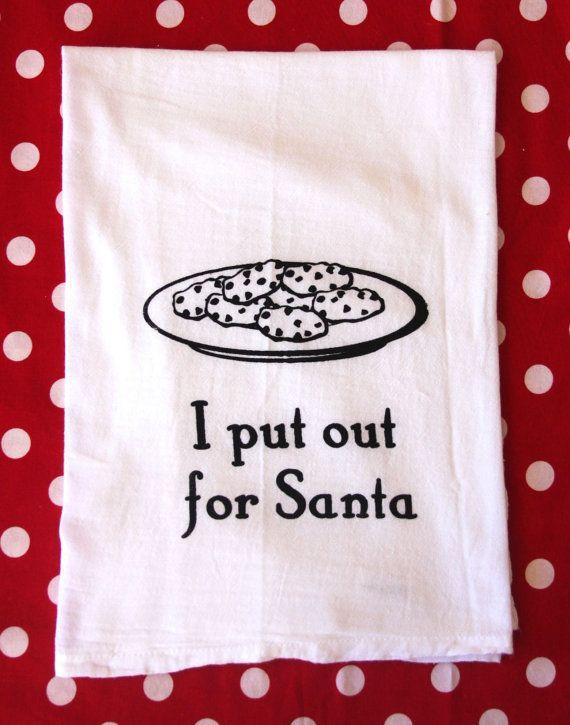 Kitchen Towels I Put Out For Santa By Gurleygirlboutique