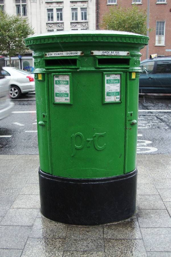 Double Aperture P & T Pillarbox located on O'Connell