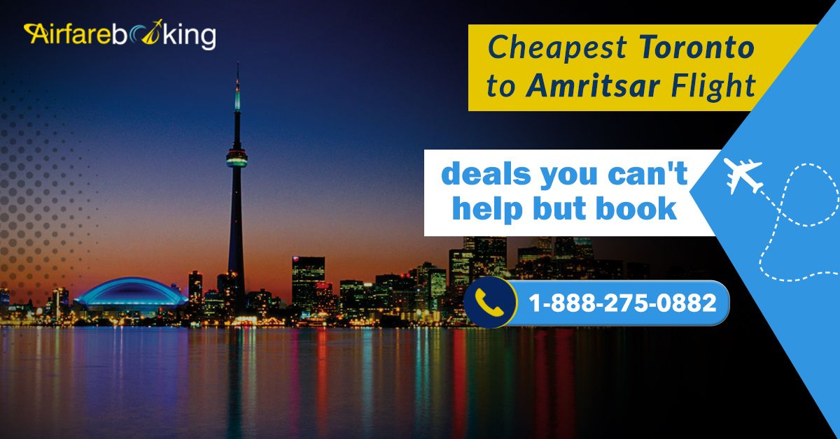 For your next trip from Toronto to Amritsar find the cheap air ticket. Check for deals for flight tickets and pick the best deal after comparison.   For more information CALL:- 1-888-275-0882 (Toll-Free)  #canadatoindiaflights #flights #Indians #Travellers #Travel #Tourists #Destinations #vacations #CheapFlightDeals #TravelDeals #TravelOffers #Airfarebooking #Amritsar #Toronto #Cheapairfare
