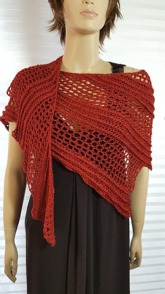 Crochet Shawl, Crochet Scarf, Dragon Wing Shawl, Knit Shawl, Knit ...