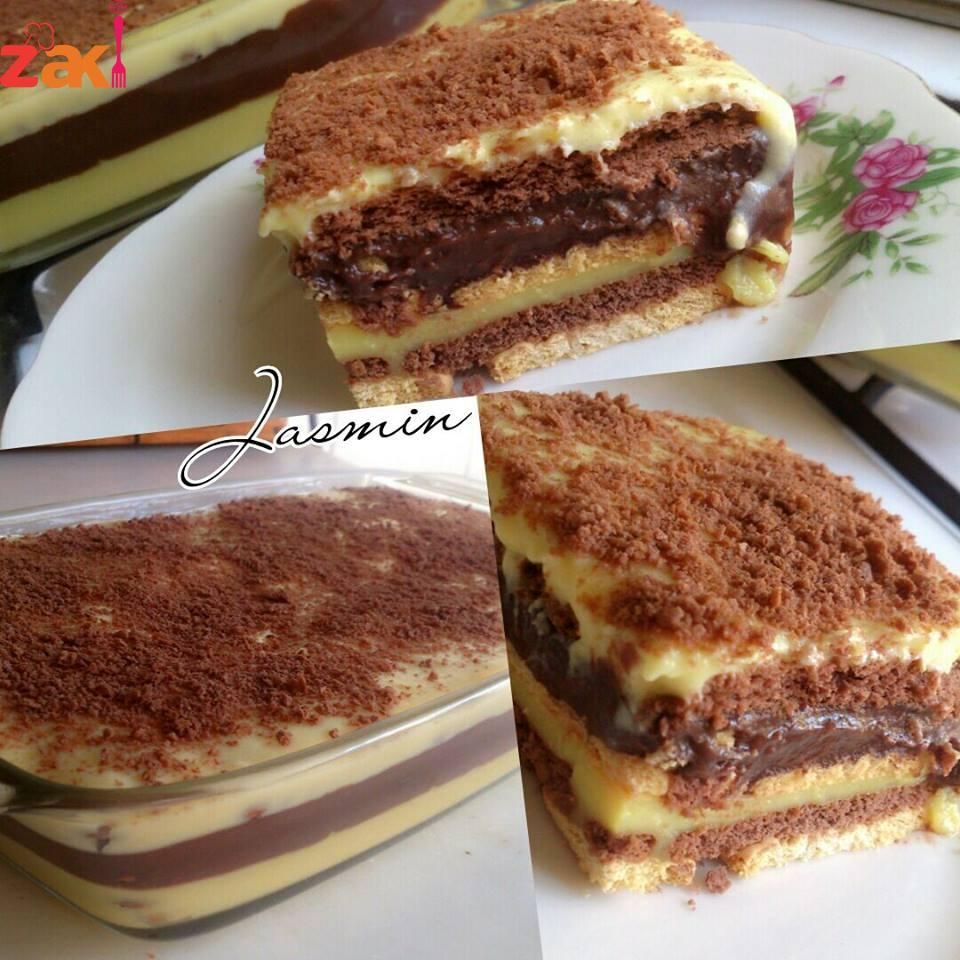 كيكة البسكويت البادرة سهلة وزاكية كتير Arabic Sweets Recipes Dessert Bites Dessert Recipes