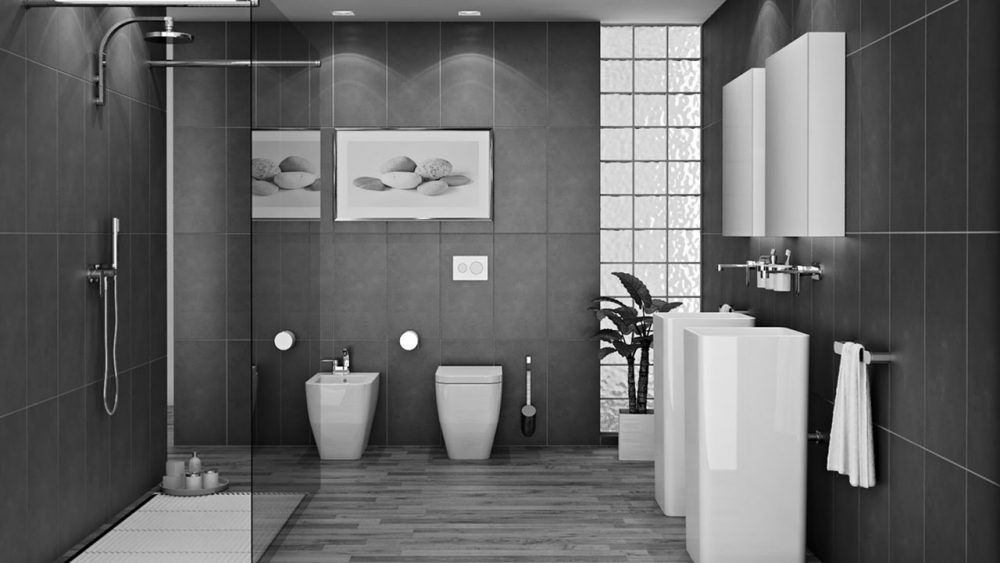 45 Grey Bathroom Ideas 2020 With Sophisticated Designs Modern Bathroom Tile Bathroom Interior Design Bathroom Interior