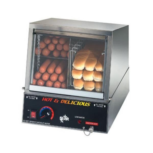 Hot Dog Steamer Electric Cart Cooker Warmer Machine Bun Warmer Display Showcase