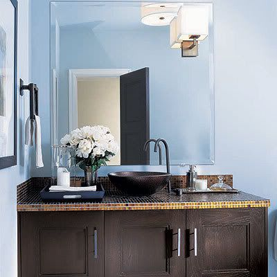 Blue Brown Painted Bathroom BROWN BATHROOM SETS Bathroom - Blue and brown bathroom sets for small bathroom ideas