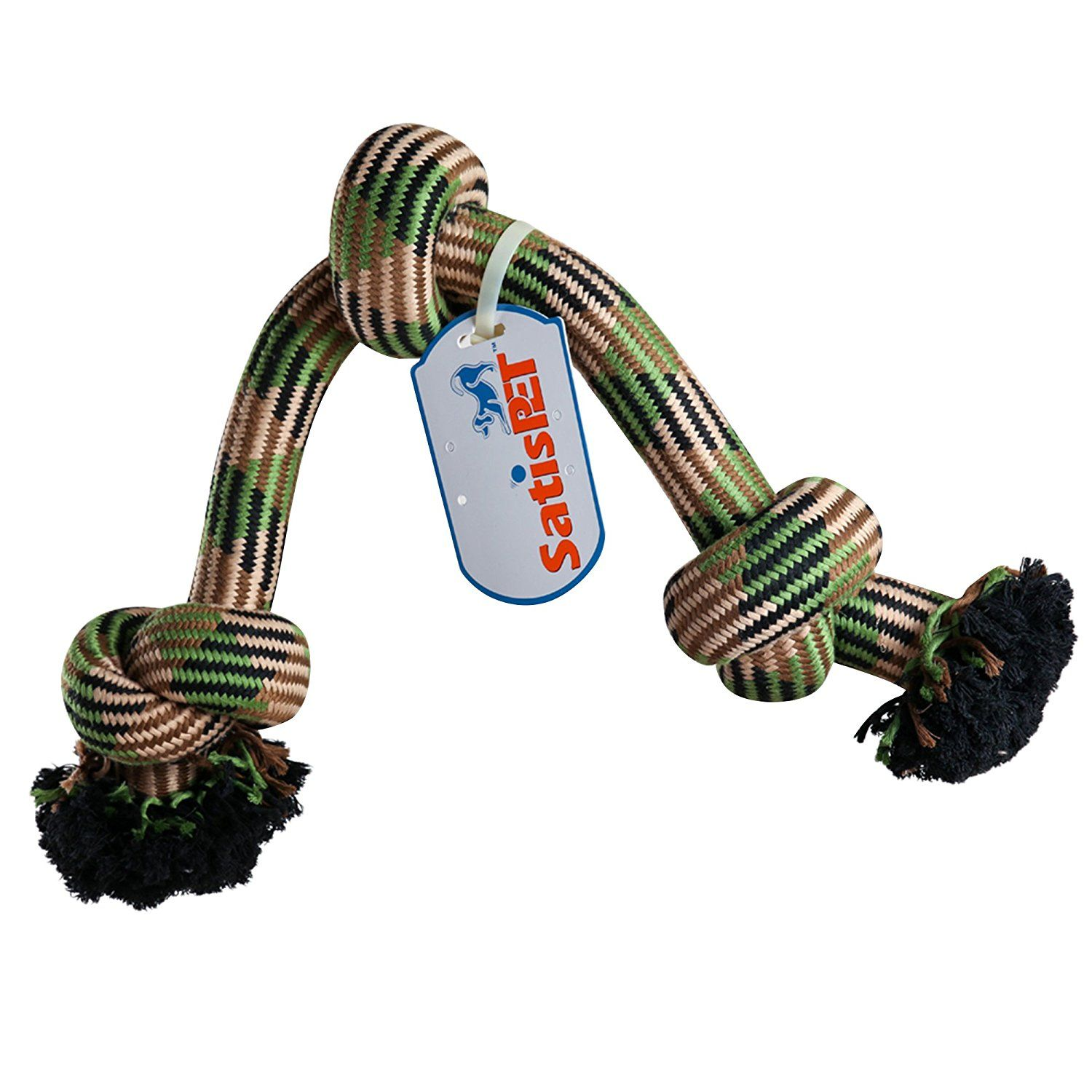 SatisPet Dog Toys 31 Inch 5Lbs no 1 Jumbo Durable Chew Rope
