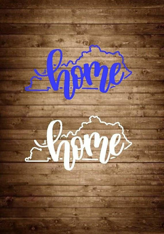 These kentucky home decals are custom made from high quality outdoor self adhesive permanent vinyl you can apply this decal to items such as car