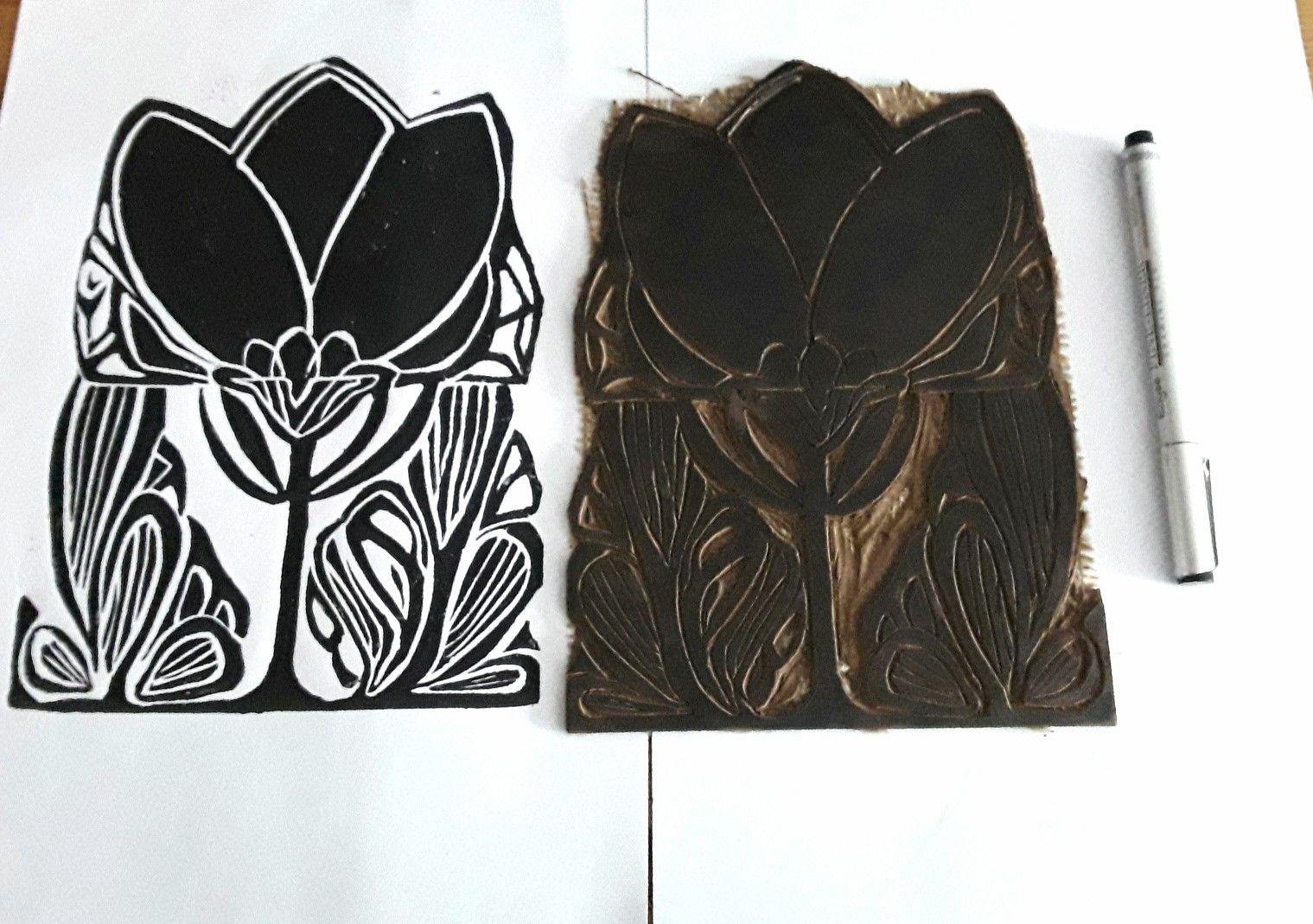 Pin by สิริรัตน์ ภมรพล on Linocuts Linocut, Printmaking