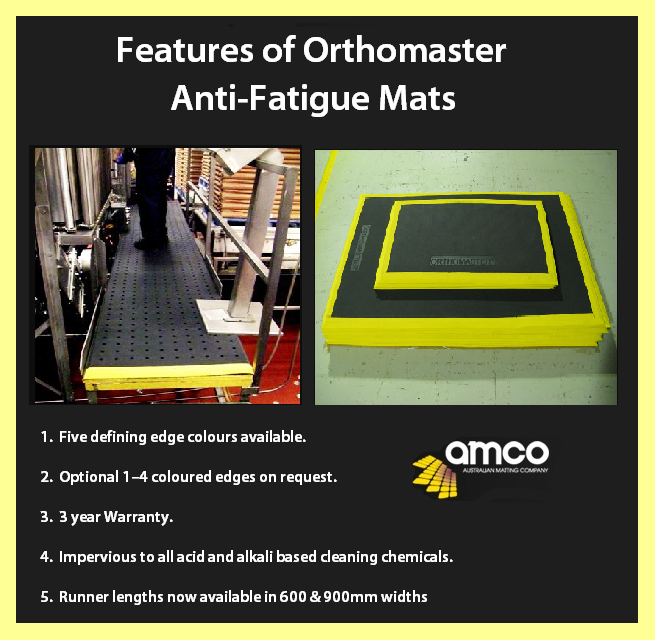 The Most Comfortable Anti Fatigue Mat In The Industry Just Got Better Coloured Edges On Orthomaster Ma Anti Fatigue Mat Anti Fatigue Floor Mats Colored Edges