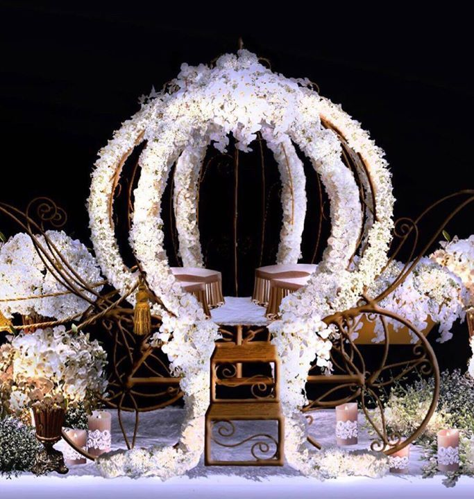 For Brides Who Want To Be Cinderella A Pumpkin Carriage Covered In