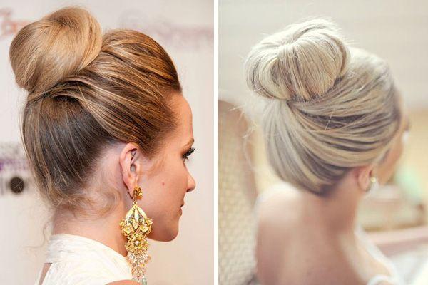 Peinado de novia en chongo alto Peinados de novia, De novia y Alto