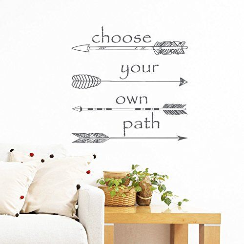 Wall Decals Quotes Choose Your Own Path Quote Arrows Hippster