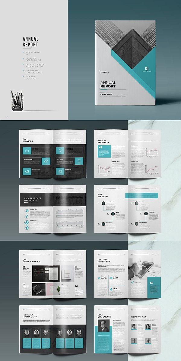 40 Annual Report Templates For Adobe Indesign Brochure Design Template Brochure Design Layout Booklet Design