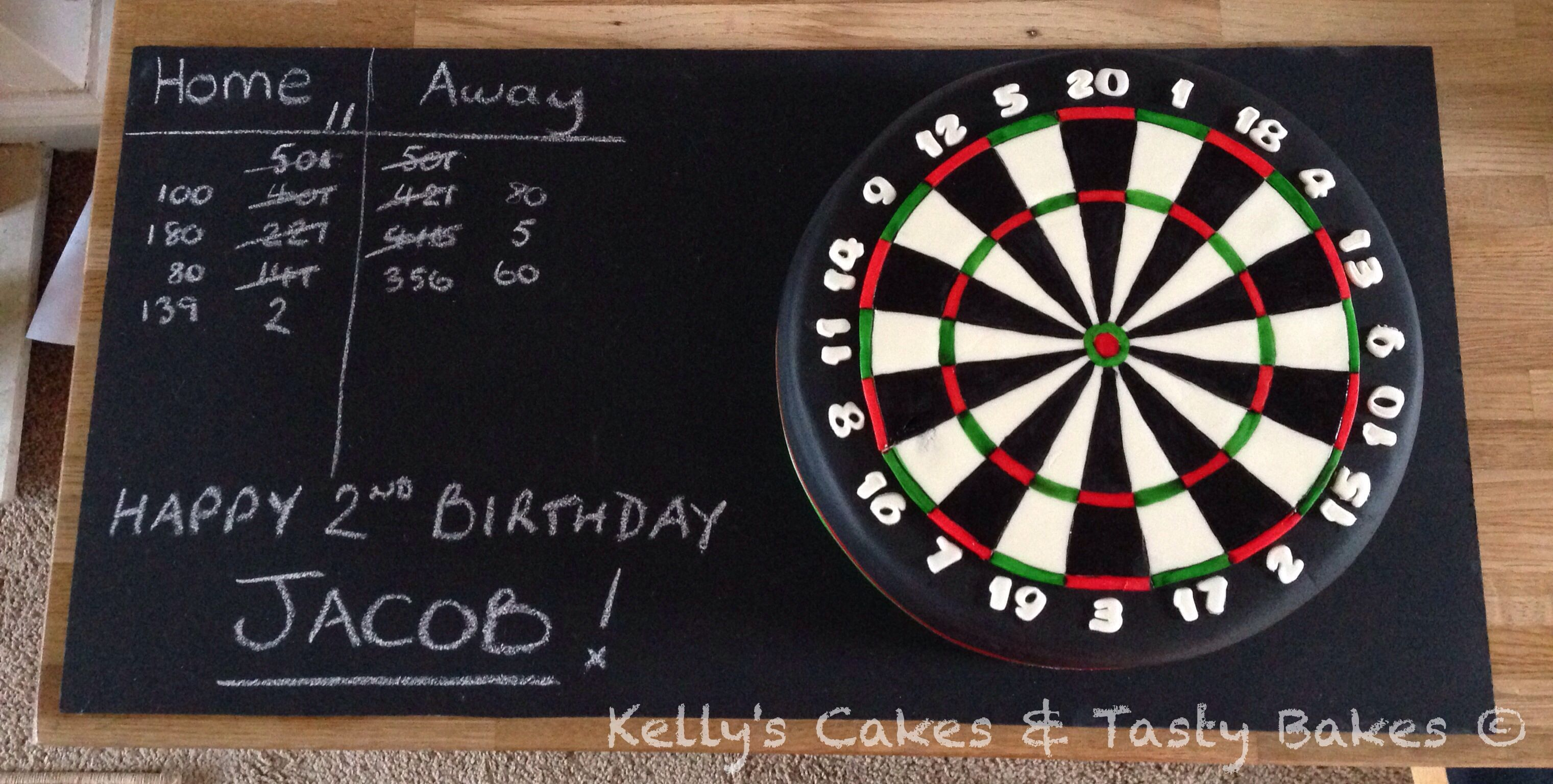 Dartboard 2nd Birthday Cake For My Nephew Who Loves To Watch The