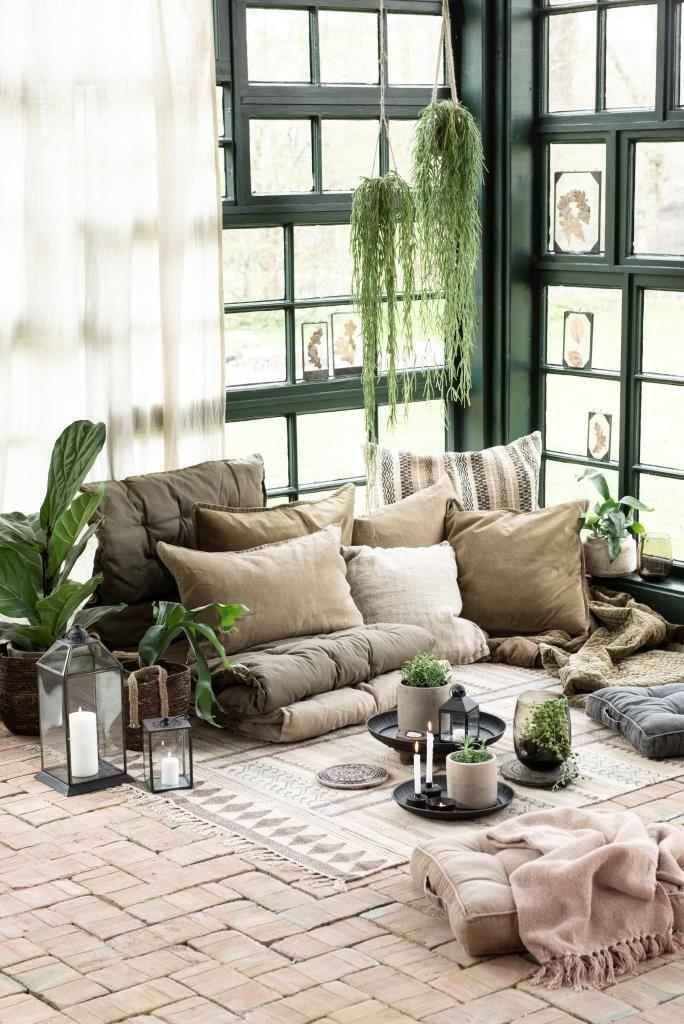Auf Dem Boden Bleiben Wohnen Sitzecke Wohnzimmer Einrichten
