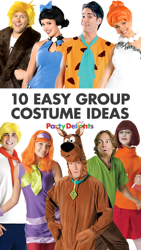 10 Easy Group Costume Ideas For You And Your Friends Party Delights Blog Easy Group Costume Ideas Group Fancy Dress Group Costumes