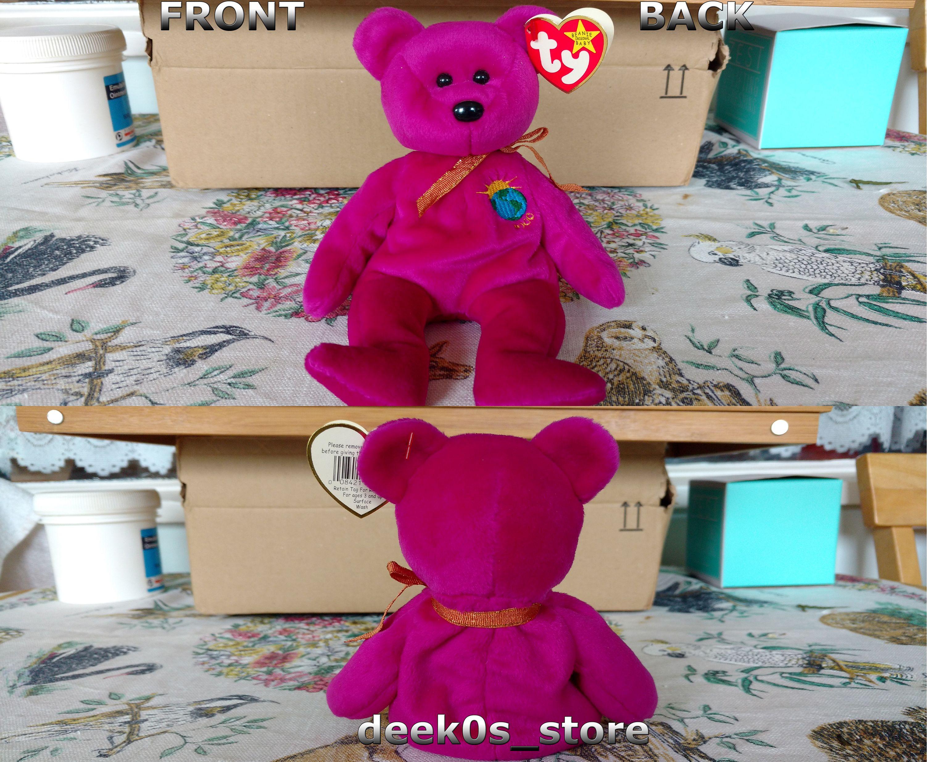 e98c693183d TY Beanie Babies Millenium (Millennium) Rare Error Purple Bear  TY   TYBeanieBaby
