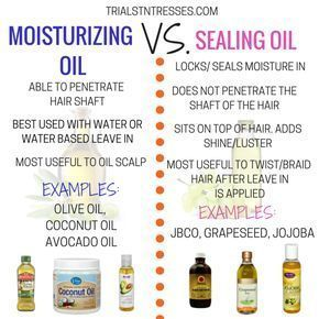Moisturizing Oil Vs. Sealing Oil - Trials N Tresses
