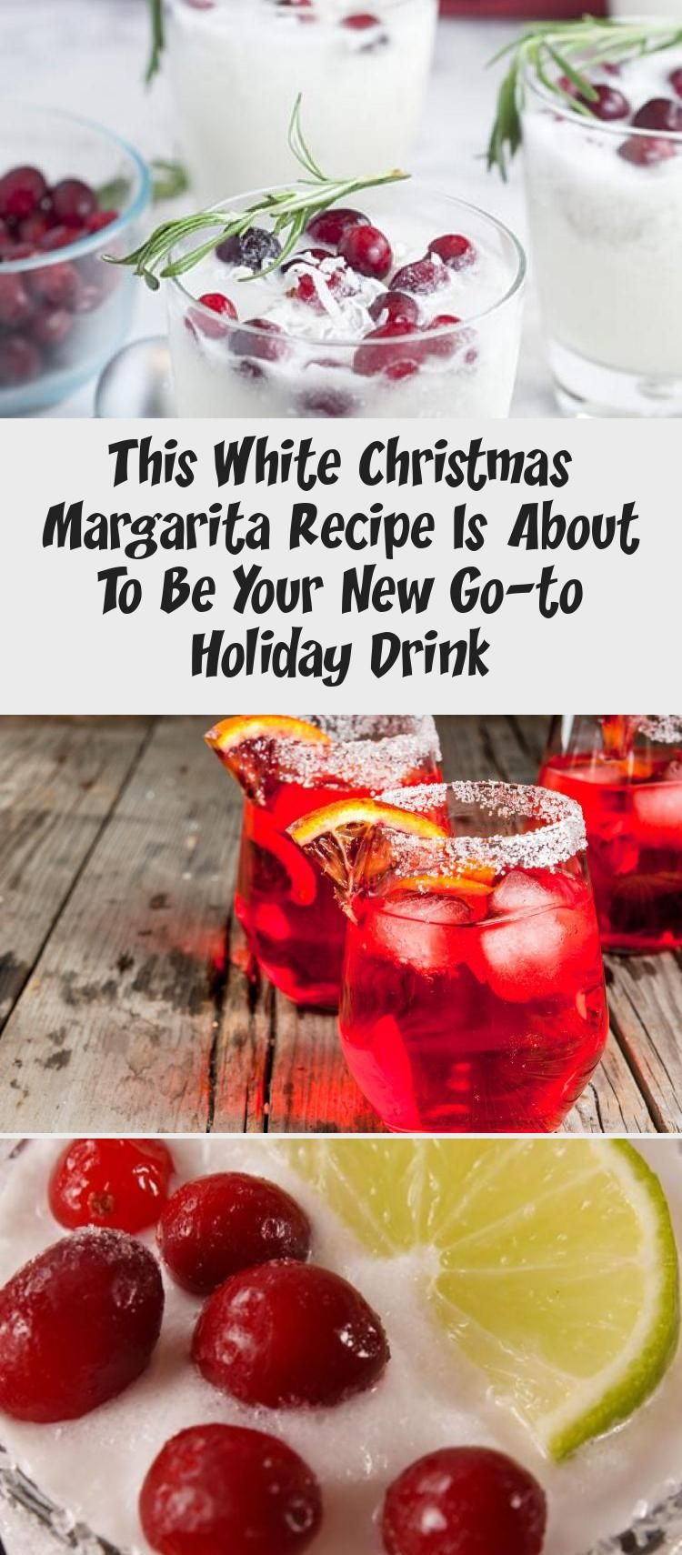 This White Christmas Margarita Recipe Is About To Be Your New Go-to Holiday Drink #christmasmargarita