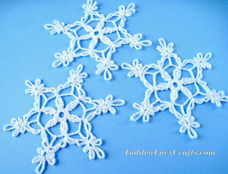 Crochet Snowflake, Free Crochet Pattern | Ganchillo artistico, Om y ...