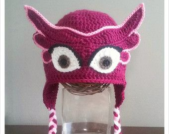 PJ Masks Inspired Owlette Crochet Hat by LisasCustomCrochet cdea6b28fdd
