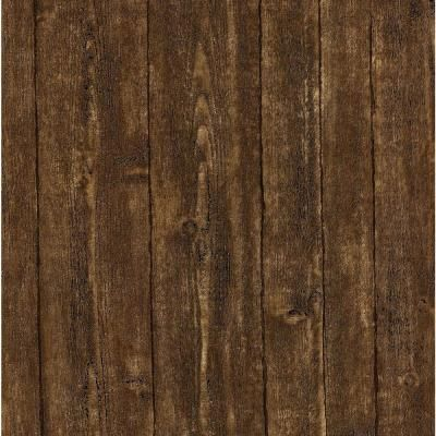 56 Sq Ft Ardennes Brown Wood Panel Wallpaper 412 56908 The Home Depot Wood Wallpaper Brown Wallpaper Wallpaper Samples