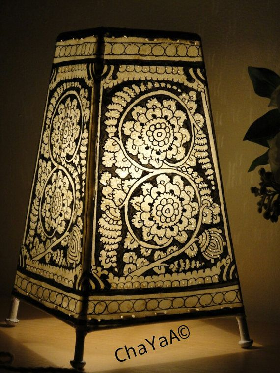 Vintage Style Hand painted lampshade/Lamp Shade/Bed by ChaYaA ...