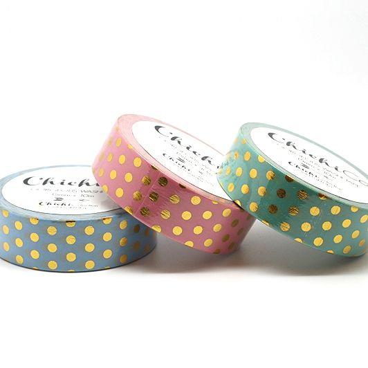 Chichi Co - Gold Foil Polka - Pastel Pink