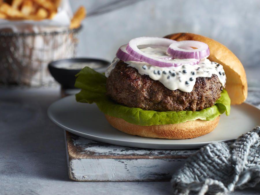 Caviar Burgers With Caviar Mayo Recipe Recipe Recipes Burger Unique Burger Recipes