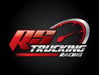 rs trucking racing or team rs trucking logo design 48hourslogo com