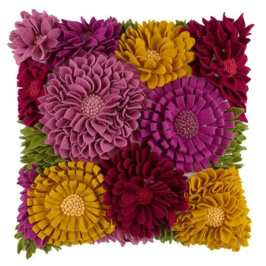 The Land of Nod | Girls Throw Pillows: Flower Blossoms ...