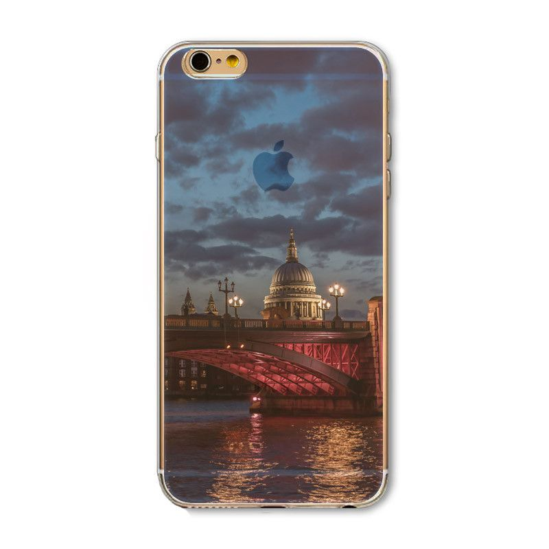 Fundas Case For iPhone 6 6S 5 5s 5C SE 6sPlus 4 4s Soft TPU Capa Modern City Painted Silicon Mobile Phone Bags