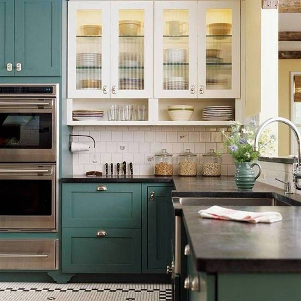 Loving these cabinet colors in 2020 | Old kitchen cabinets ...