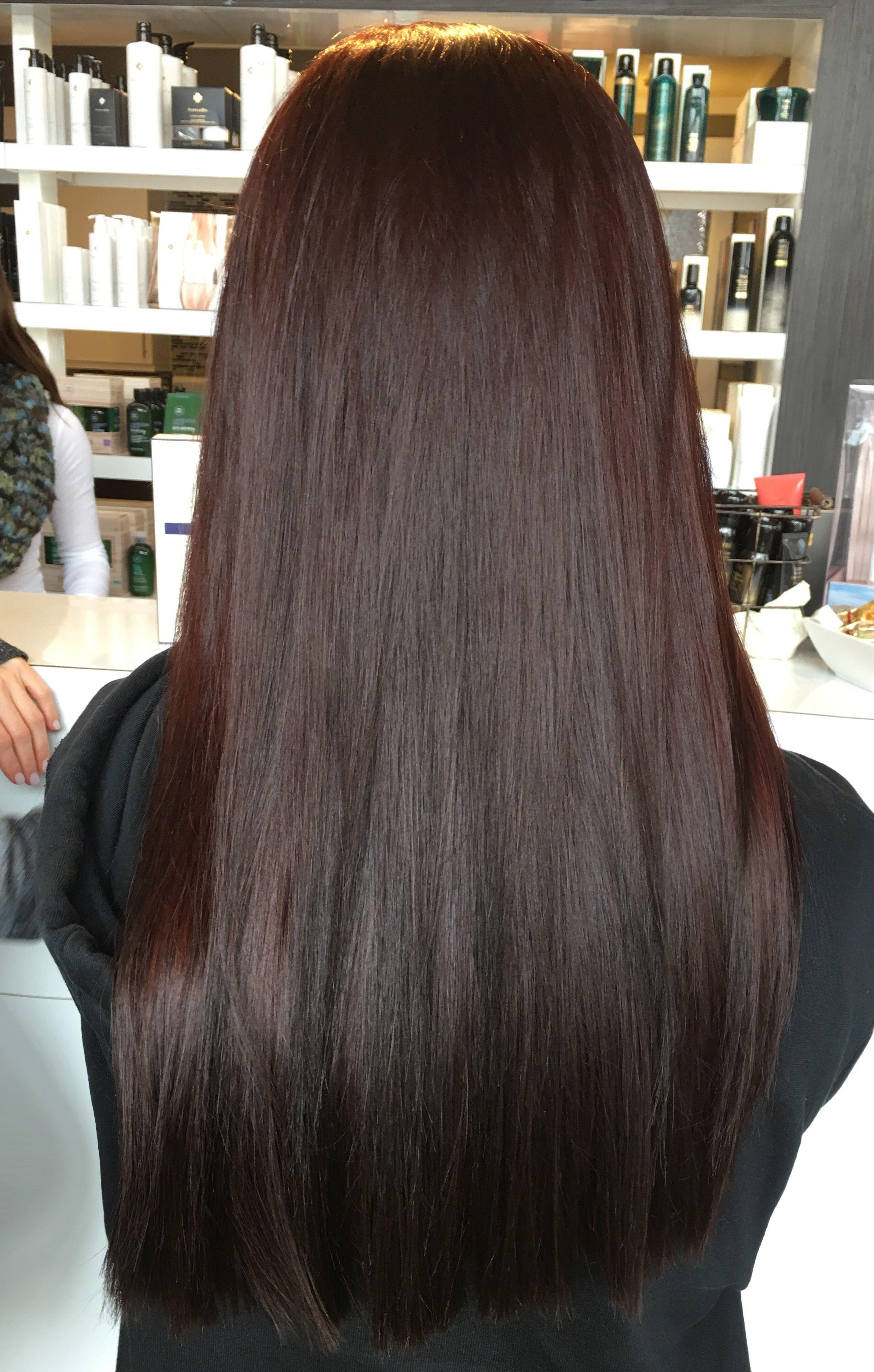 Deep Red Brown Hair Salon Studiobe Paul Mitchell Hairrrrrr