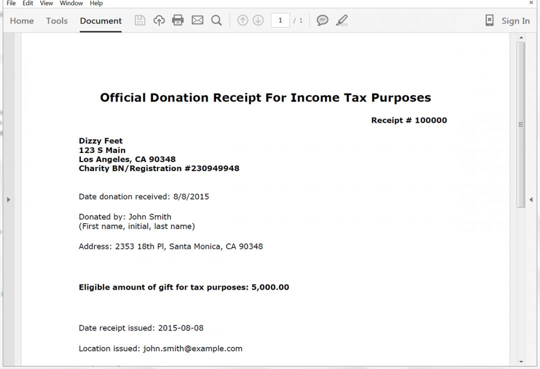 Browse Our Sample Of Tax Receipt For Donation Template Receipt Receipt Template Tax