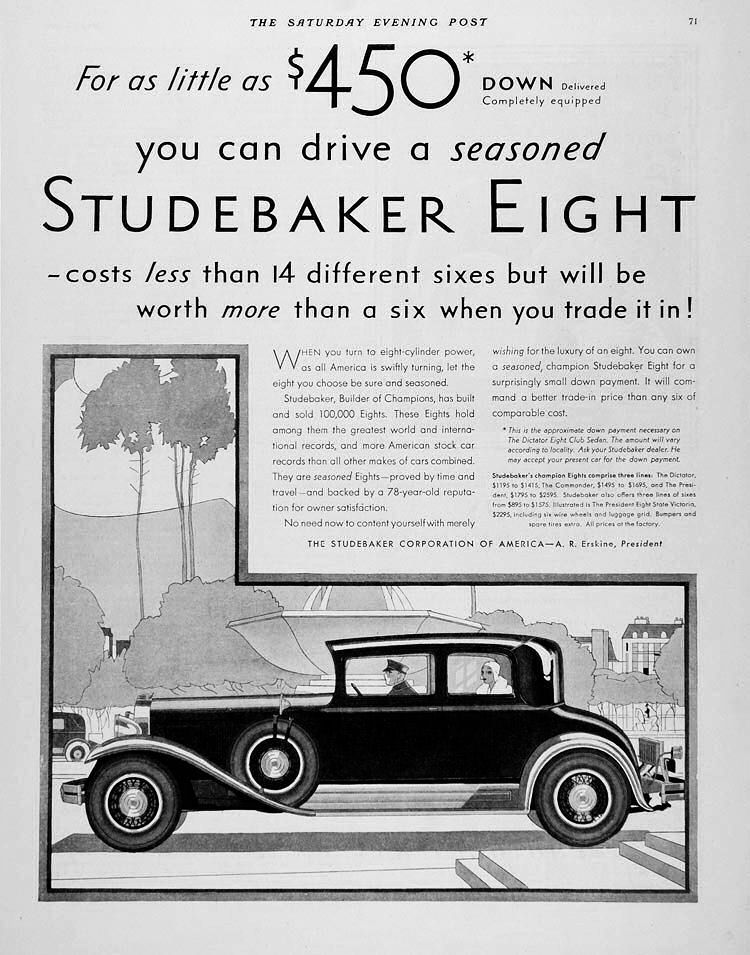 1930 Studebaker Ad | Studebaker Car Ads | Pinterest | Ads, Cars and ...