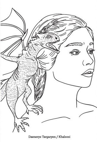 Daenerys Game of thrones Coloring page  Coloring pages for adults