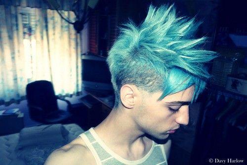 Male Guy With Light Blue Hair Punk Hair Hair Styles Hair Blog