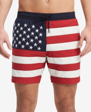 5b894ff647f98 Tommy Hilfiger Men's Flag 6.5'' Swim Trunks, Created for Macy's - Blue XXL