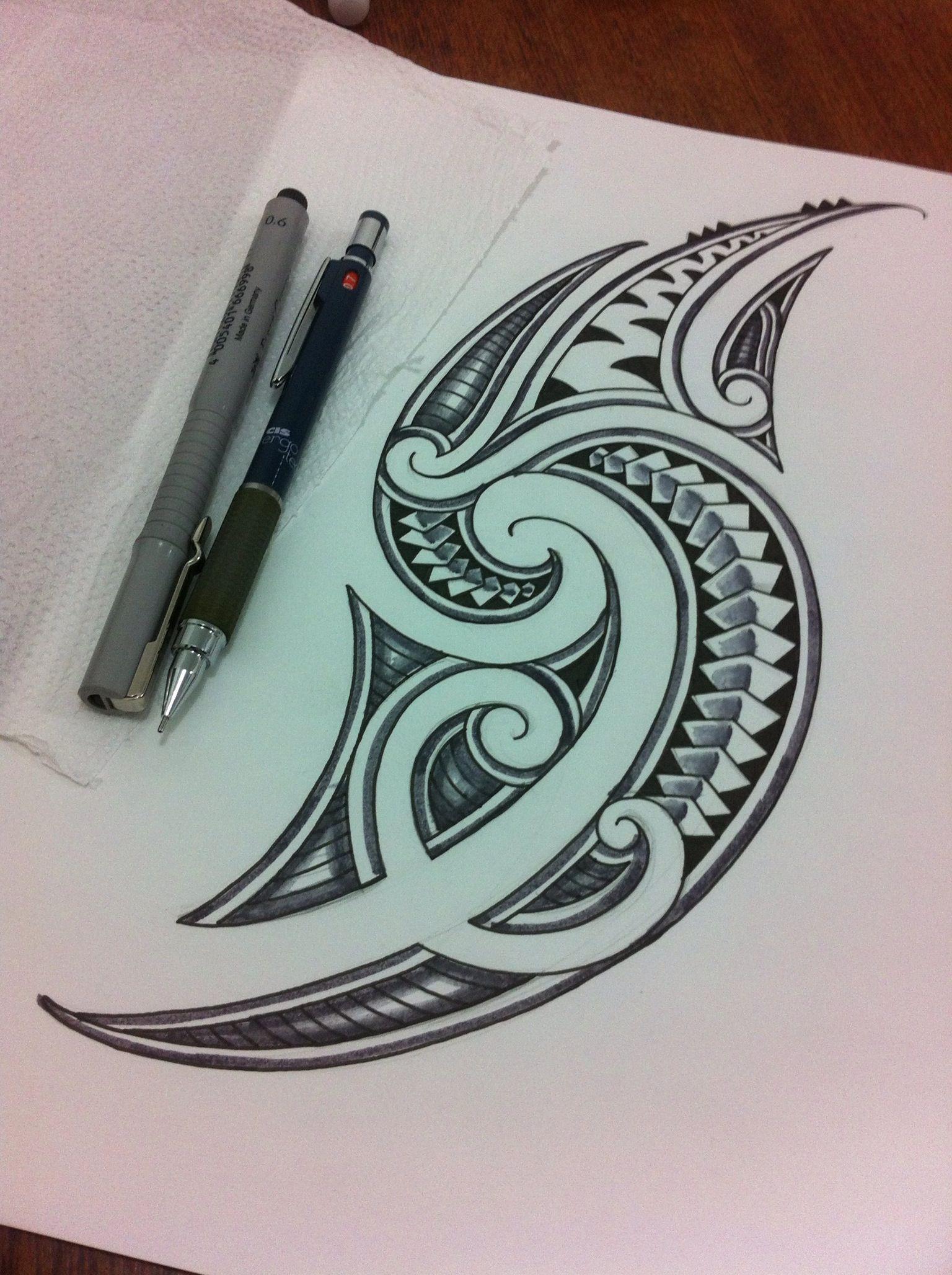 Maori Art Tattoo Designs: Maori Tattoo Design #polynesian #tattoo