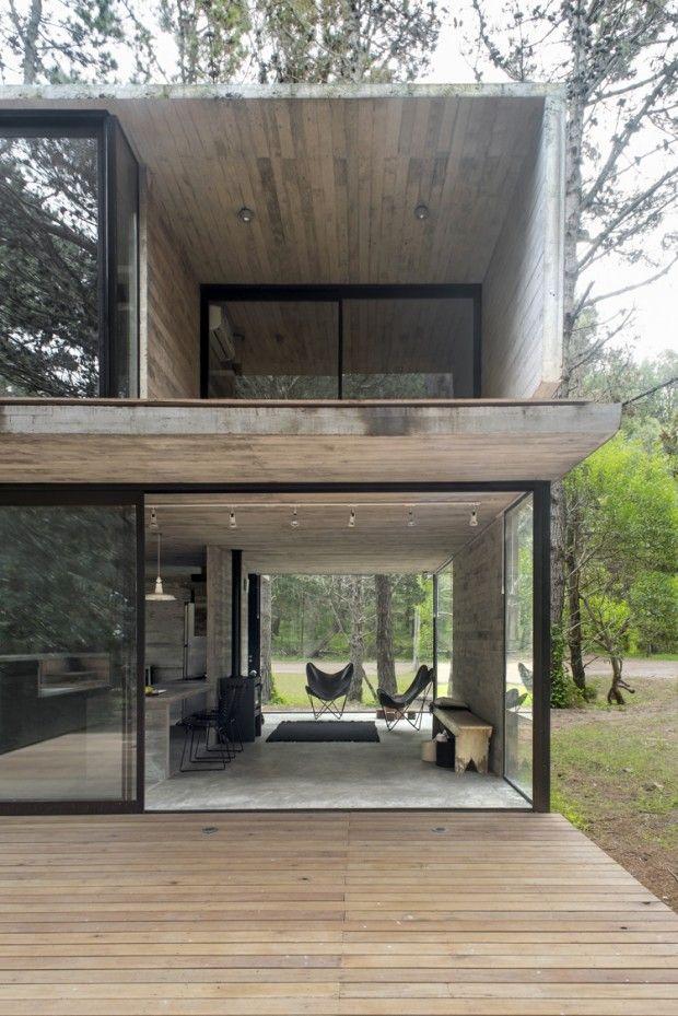 H3 House, maison de vacances en béton par Luciano Kruk | House Body ...
