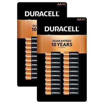 Duracell Aa Alkaline Batteries 2 Packs Of 40 Units Duracell Alkaline Battery The Unit