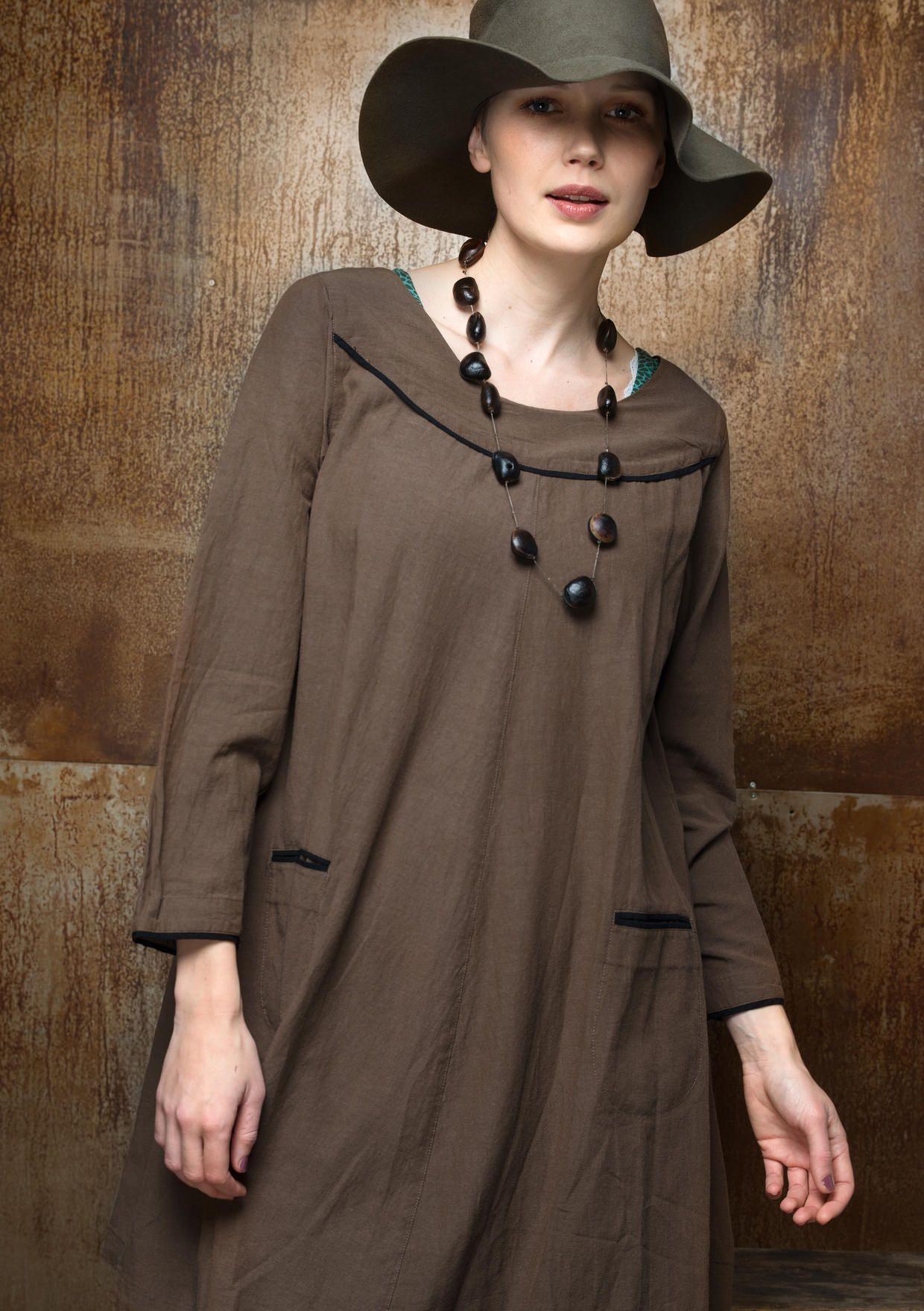 Yksivärinen mekko puuvillaa/modaalia – Uutuudet – GUDRUN SJÖDÉN - vaatteita verkossa ja postimyynnissä