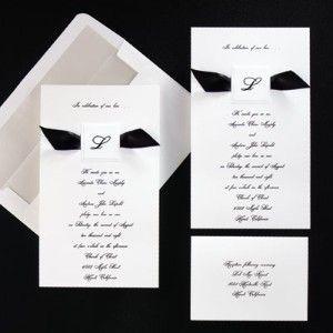 Formal Wedding Invitation Wording, Black Tie LOVE THIS!