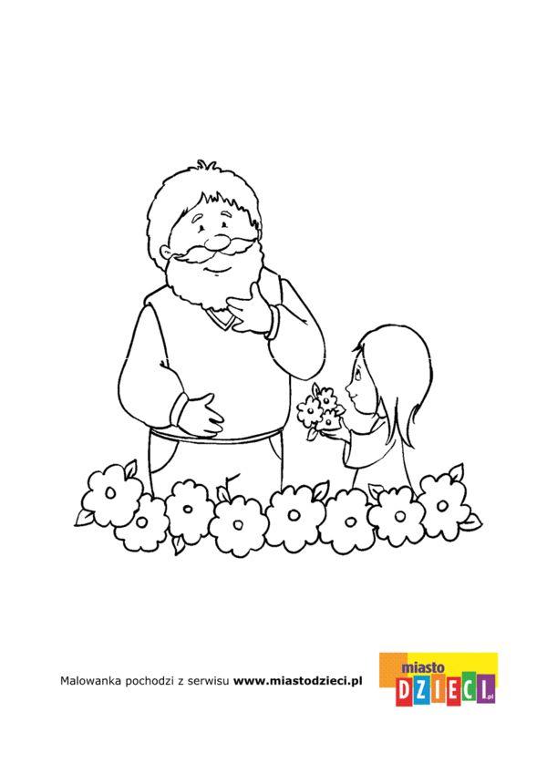 Dzień Babci i Dziadka - kolorowanki dla dzieci | grandparents day ...