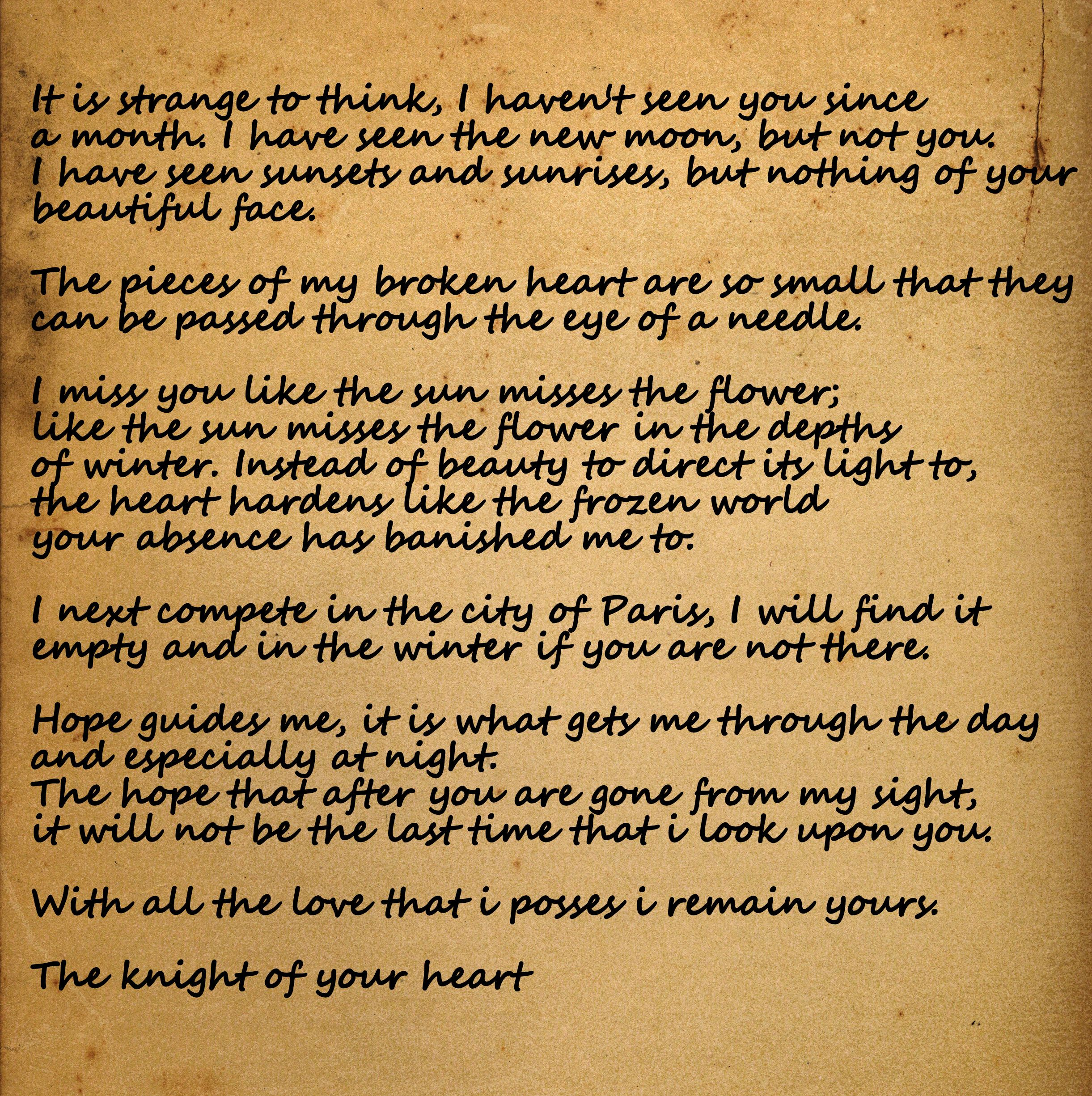 letter to Jocelyn a knights tale quotes A knights tale