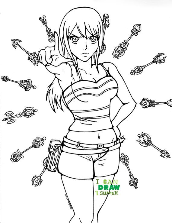 Lucy Heartfilia, Fairy Tail Lucy, Fairy Tail coloring page, anime ...