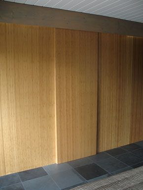 The House Simple Closet House Bamboo Panels